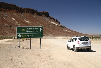 Route Naar Fish River Canyon