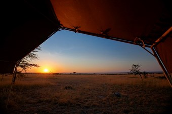 Zonsopkomst Bij Serengeti View Camp